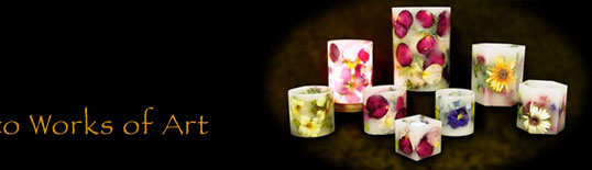 Floral Candle Keepsakes